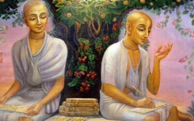 Rupa and Sanatana Goswami at Kamyavan