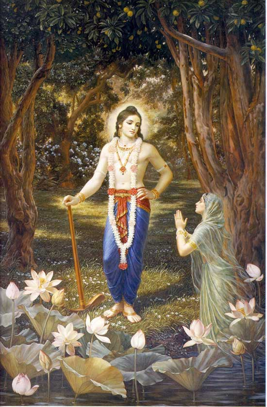 Yamuna devi Praying to Lord Balaram