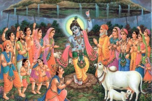 Radhanath Swami on Krishna lifts Govardhan