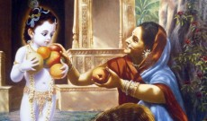 Krishna's mercy to fruit vendor