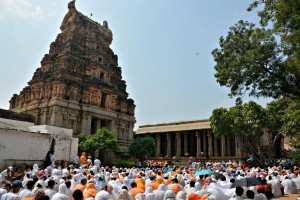 Radhanath Swami narrates the story of Lord Ram allying with Sugriva, 2014 Yatra, Hampi, Day 2, Morning