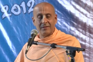 Radhanth Swami speaks on Lord Chaitanya's Mahaprakash Lila At Srivasa Angan, 2012 yatra, Mayapur.
